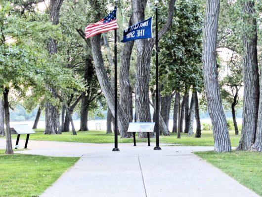 Perry Monument Flagpoles & Interpretive Panels